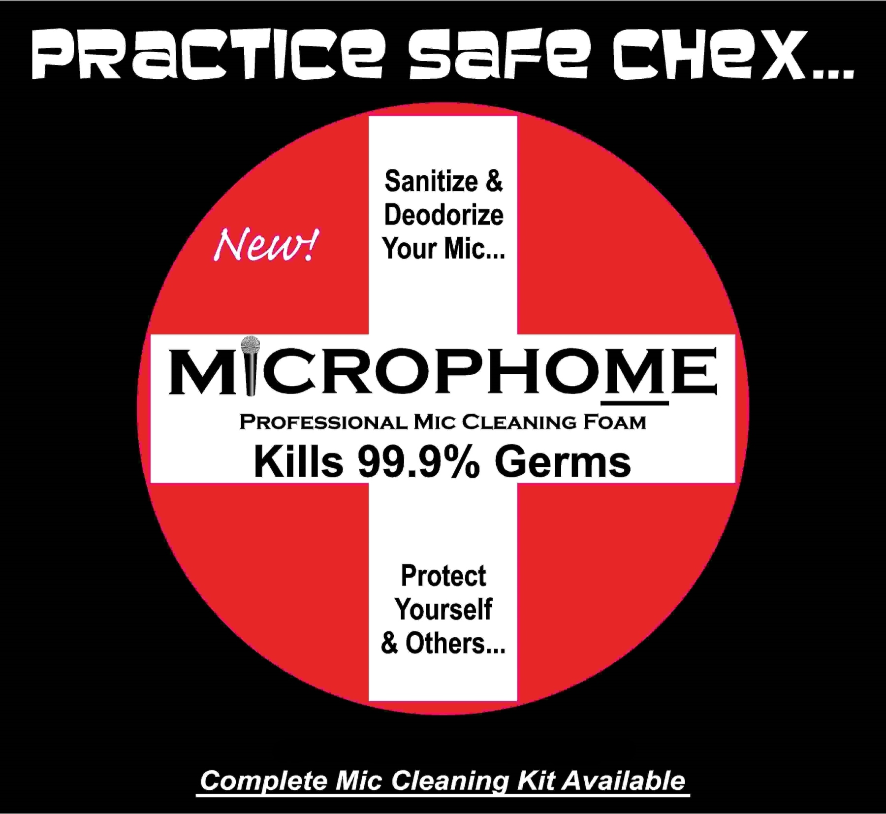 Practice Safe Chex Microphone Tee Shirt